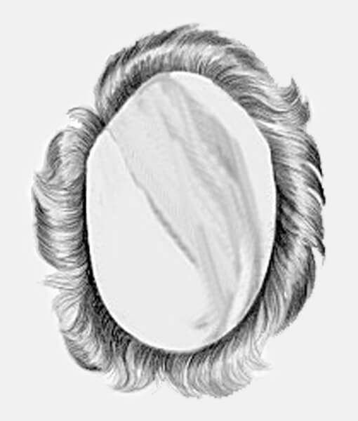 Natural Synthetic Hair-Piece